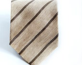 Reserved to EVAN-Giorgio Armani,Vintage Men's Tie,  Made in Italy,Flax and Silk.