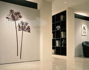 Vinyl wall decals wall stickers flower decals home decors-lover flower Agapanthus
