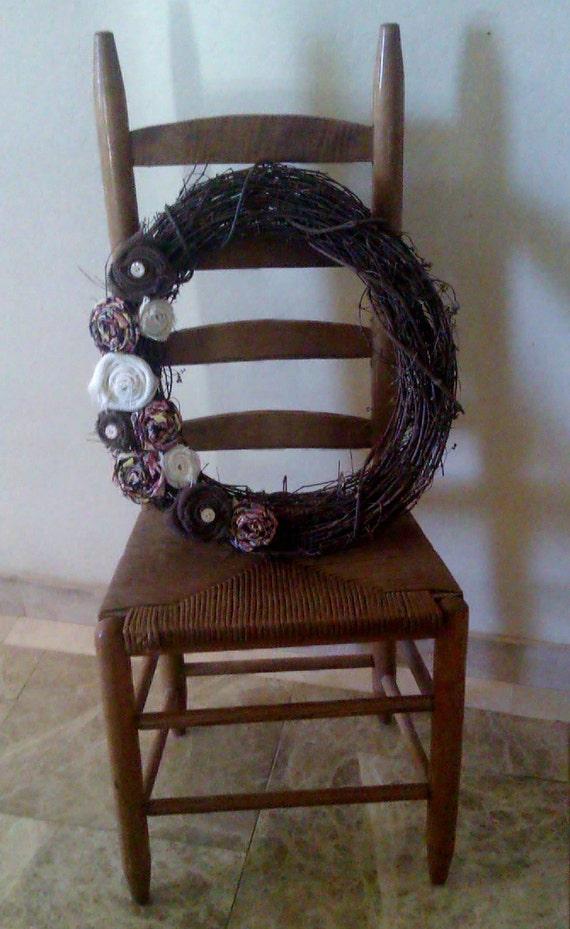 Fanciful Fun Burlap Grapevine Wreath