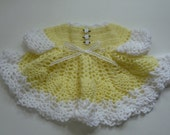 Baby girl yellow dress with white trim