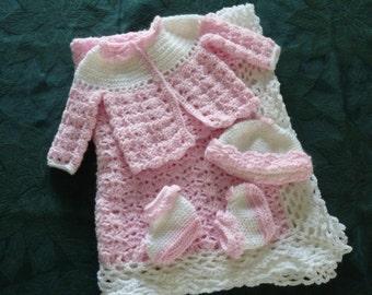 Crochet layette set Etsy