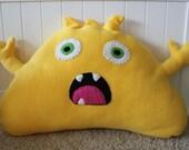 Monster Pillow- Yellow