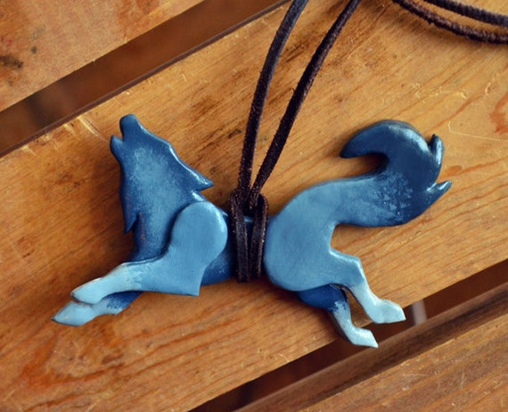 Howling Wolf Necklace (can be made in any color)