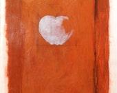 Original Modern Apple Painting