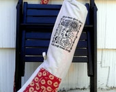 SALE Yoga Bag Red Woodland and Henna Hands Handmade