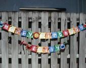 Sesame Street Birthday Banner-Elmo, Cookie Monster, Big Bird-Happy Birthday Banner-Primary Colors-Sesame Street Banner