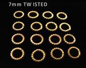 SALE Gold Vermeil Jump Rings 7 mm Elegant Twisted 20 pcs  R4T7