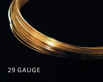 SALE Gold Vermeil Wire 29 gauge 5 Meters W1029