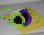 Felt Flower Headband / Girl Headband / Toddler Headband / Newborn Headband / Felt Cluster Headband