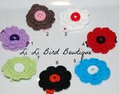 PICK ONE-Crochet Flower Hair Clip / Ready to Ship Hair Clip / Toddler Hair Clip / Adult Hair Clip / Teen Hair Clip