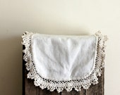 Vintage Doily - Linen Rectangle with Rounded Corners