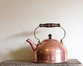 Vintage Copper Tea Kettle - Paul Revere Revereware 1976