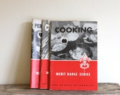 Vintage Boy Scout Merit Badge Manuals - Personal Fitness, Citizenship, and Cooking, 1960s