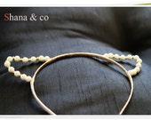 Pearl cat ear headband - ivory