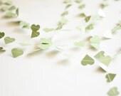Heart paper garland banner - OOAK - Striped mint heart garland - Engagement photo - margarita wedding garland