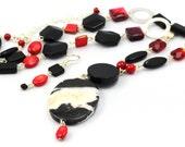 Madrid - Beaded Necklace and Earrings Set