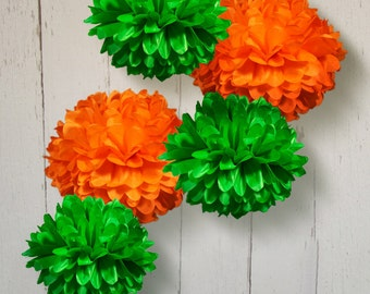 Tissue Paper Pom Poms Set of 5 - Choose your Colors