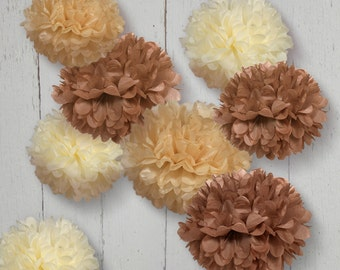 Tissue Paper Pom Poms Set of 8