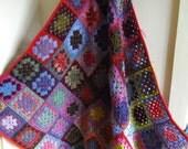 Vintage Style Crochet Granny Blanket