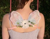 Little Blue and Pink Fairy Wings, flower fairy costume, adult, child, wedding accessories, flower girl, bridesmaid, fantasy, dress up