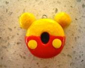 Winnie the Pooh Donut Polymer Clay Charm