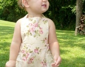 summer flowers ruffled romper