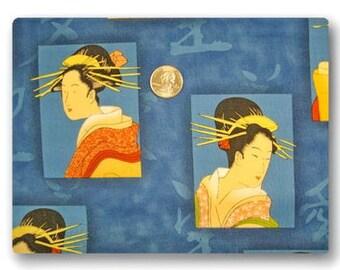 Geisha on Blue - 18 inches x 22 inches
