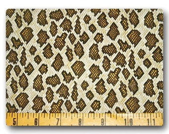 Rattle Snake - Fabric By The Half Yard 18 inches x 42 inches