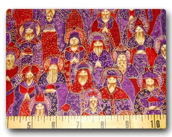 VHTF FQ 18x 22 Three Wise Men in Purple and Red