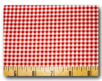 Red Gingham - Fabric By The Yard