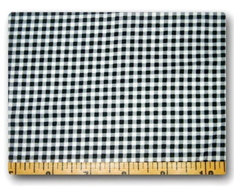 Black Gingham - Fabric By The Yard