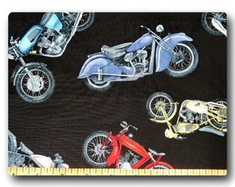 Choppers on Black - Fabric By The Yard