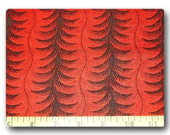 Red Feather Pattern - Fabric by the Yard