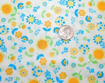 I Heart Floral Blue - Fabric By The Yard - H