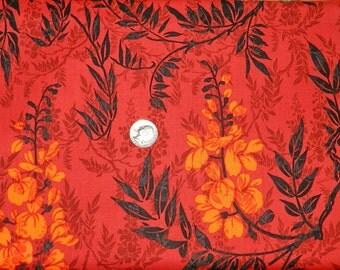 Hawaiian Fire Colored Flowers - Fabric by the Yard