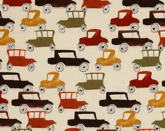 London Cars - Fabric By The Half Yard 18 inches x 44 inches
