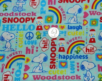 Snoopy Happiness - Fabric By The Yard