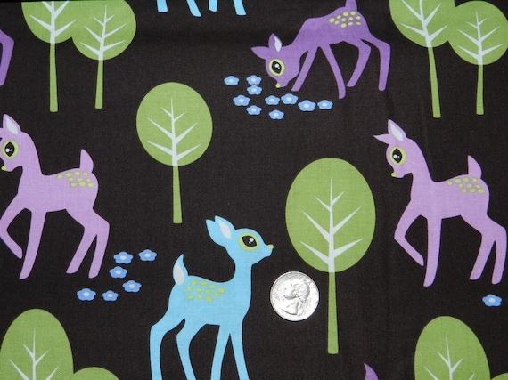Last Yard Pet Deer on Brown - Fabric By The Yard  - H