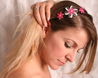Fashion headbands, Women hair accessory, Pink headband, Pink flower headband, Pink headpiece, Pink hair accessory, Flower headpiece women