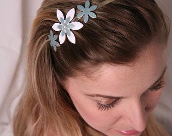 Romantic headband, Women hair accessory, Women headband, Flower headband, Metal headband, Adult hair accessory, Elegant hair accessories