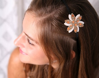 Adult headband, Adult hair accessory, Flower headband for women, Women hair accessory, Adult headband woman, Women's accessories, Metal band