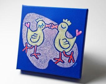 limited edition canvas art - love birds