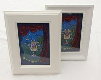 mini framed canvas - opera cat
