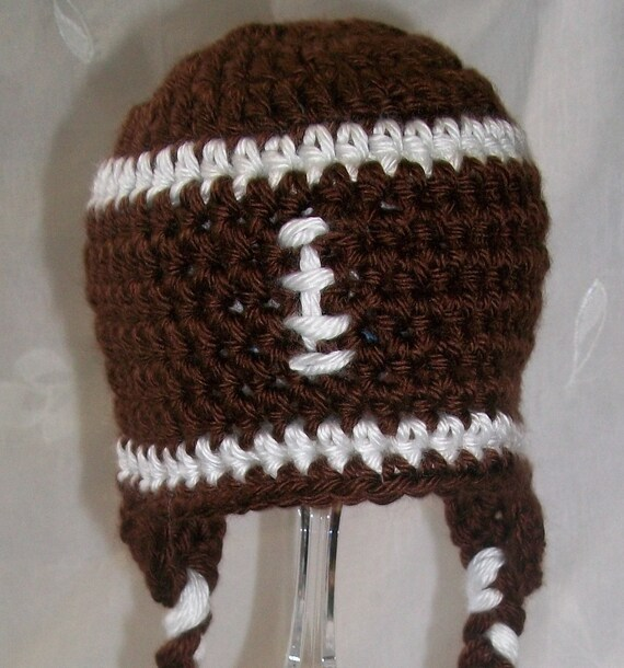 Newborn Football Earflap Hat and Diaper Cover