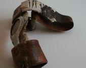 steampunk industrial goth medical metal finger brace 1913 Scholls