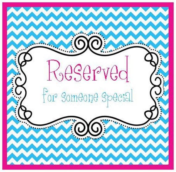 Reserved For Ashlee