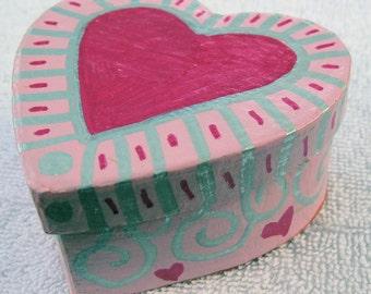 Heart Shaped Keepsake, Jewelry, or Gift Box