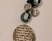 Handmade Believe Lariat Necklace