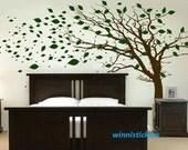 Vinyl Wall Decal Nature Design Tree Wall Decals Wall stickers Nursery wall decal wall art------Tree in the wind
