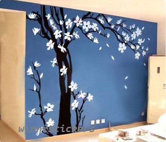 Wall Decor Tree Design : Vinyl wall decal nature design tree decals by